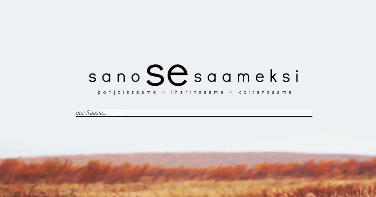 Suomi Saame Sanakirja